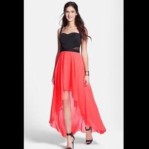 Hailey Logan hot pink high low dress